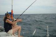 Catching my fish!
