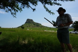 Ken Gillings with his stick(!) at Isandlwana. His war cries and acting was superb.