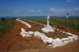The British burial ground on Spion Kop.