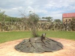 Another spectacular Zulu memorial - at Rorke's Drift